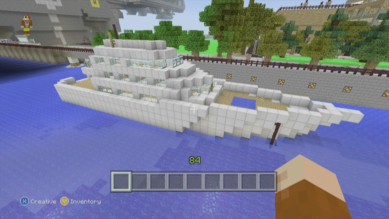 Minecraft Xbox 360 Edition: How To Build a Small Yacht - YouTube