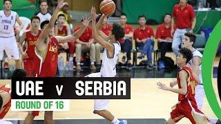UAE v Serbia - Round of 16 Full Game - 2014 FIBA U17 World Championship