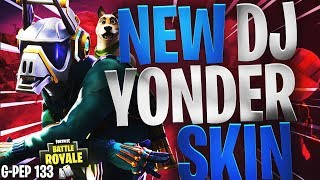 DJ YONDER SKIN HIGHLIGHTS/GAMEPLAY - FORTNITE BATTLE ROYALE