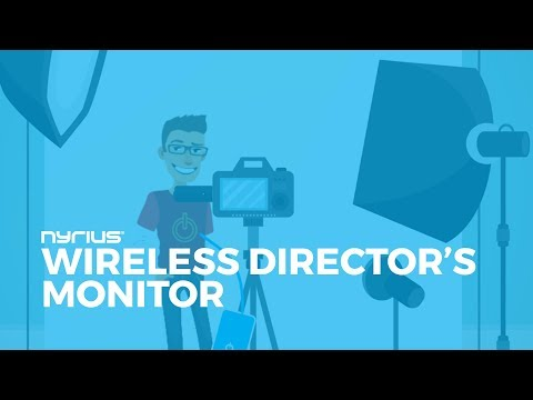 How to use Nyrius Aries to send wireless HD video to a Director's Monitor