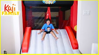 Giant Inflatable Bounce House Slide Stuck in our house!!!