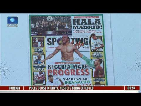 Newspaper Review: Nigeria Make Progress In Latest FIFA Rankings l Sports This Morning l
