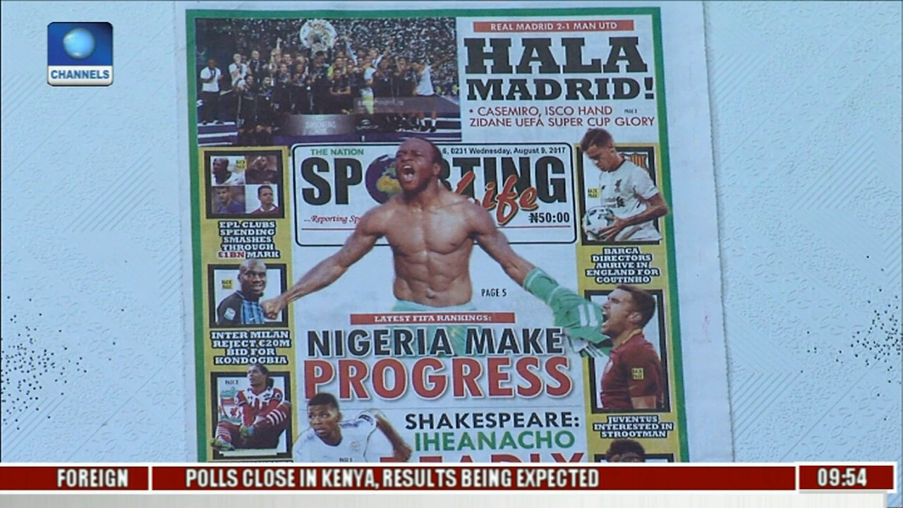 Newspaper Review: Nigeria Make Progress In Latest FIFA Rankings l Sports This Morning l