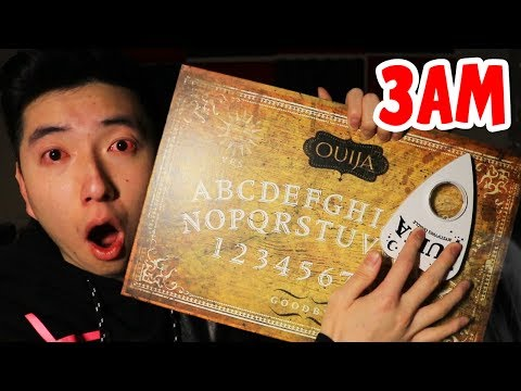 DO NOT PLAY THE OUIJA BOARD ALONE AT 3 AM! (GHOST)