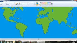 Dibuja el mapa mundi en MS Paint - planeta tierra - world map