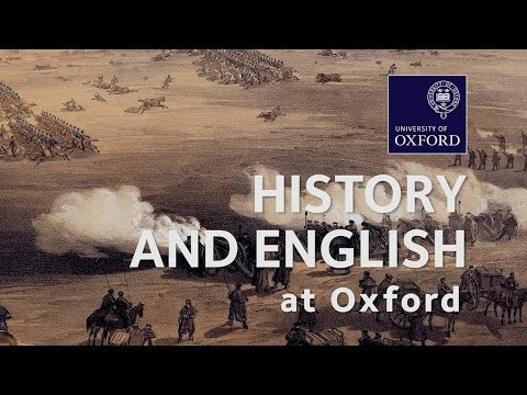 History and English at Oxford University