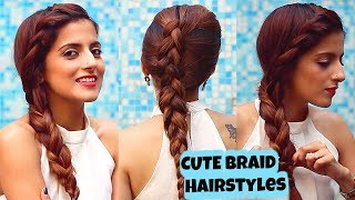2 Everyday CUTE Braid Hairstyles For Medium To Long Hair/ Quick & Easy / Knot Me Pretty