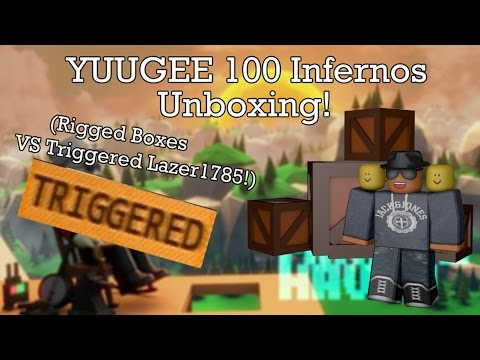 Miners Haven: YUGE 100 Lucky INFERNO'S unboxing (Rigged boxes vs triggered Lazer1785)