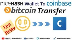 NiceHash Wallet To Coinbase Bitcoin Transfer | Live Demo