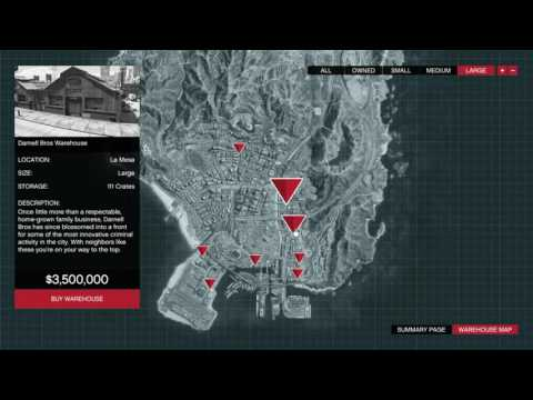 GTA 5 Online All Warehouses Locations And Prices