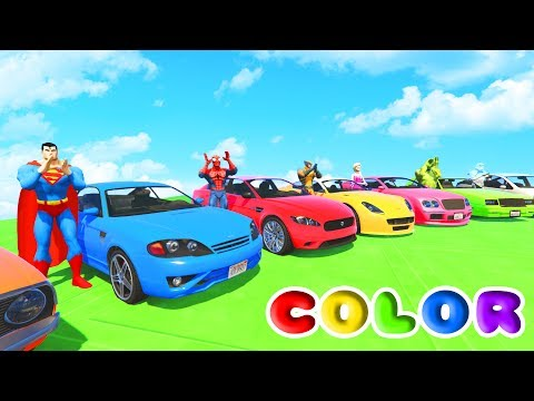 Thumbnail: FUN LEARN COLORS CARS IN TRACTOR w/ Superheroes 3D Animation for Children and Babies
