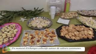 Repas de fête à l'Espace Solidarité Famille