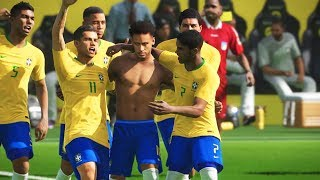 BRASIL VS ARGENTINA, FINAL DA COPA DO MUNDO RÚSSIA 2018 - PES 2018 - COPA DO MUNDO #7