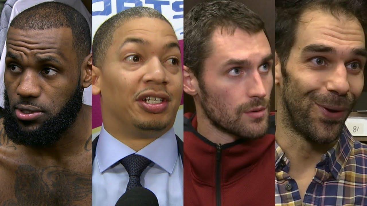 Cavaliers react to win vs. Pistons [LeBron James, Tyronn Lue, Kevin Love, Jose Calderon] | ESPN