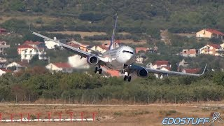 Extreme! UIA Boeing 737-900ER Landing Approach at Split airport SPU/LDSP