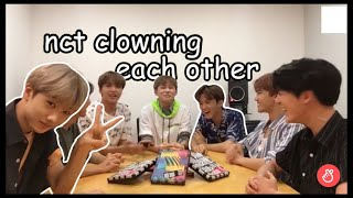 nct clowning each other