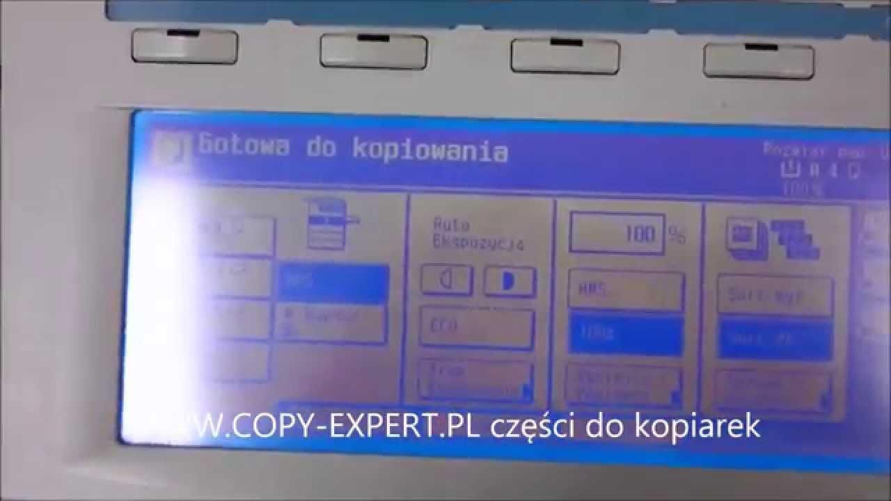 SERWIS KYOCERA KM-2530 KM-3530 Olivetti dcopia 35 komunikat CZAS NA  PRZEGLĄD KONSERWACJĘ