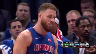 Blake Griffin Exits To Standing Ovation In Detroit With Ben Wallace In Crowd