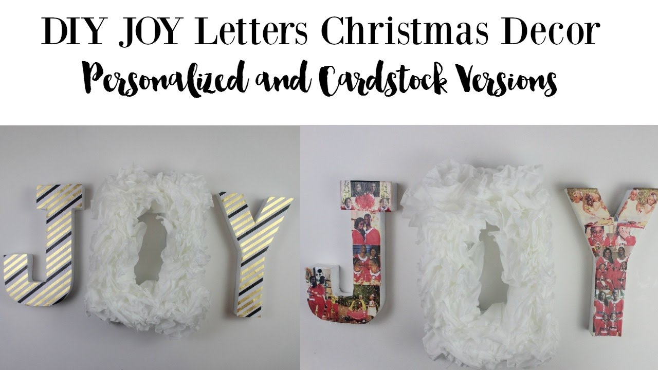 Diy christmas decor personalized joy letters by home made - Home decor subscription box ...