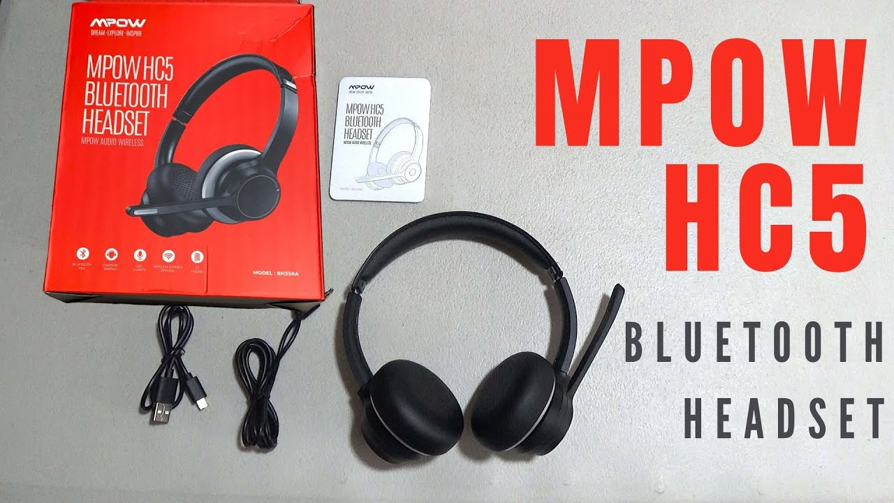 Mpow Hc5 Bluetooth Headset Work From Home Essentials Youtube