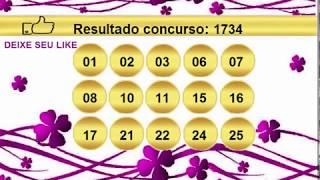 sorteio resultado lotofacil 1734 Palpite 1735