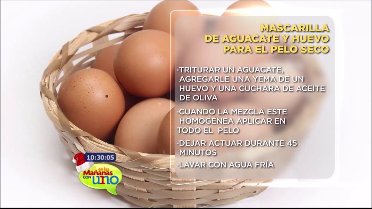 mascarilla aguacate y huevo