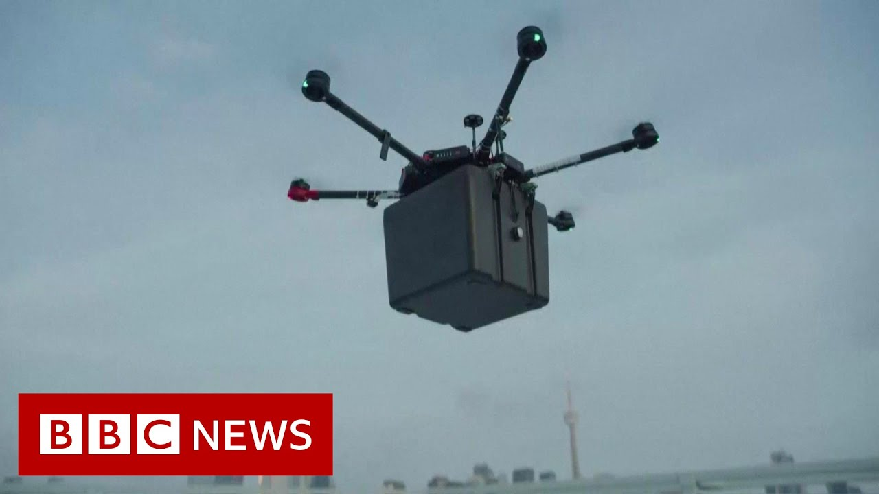 Download Transplant lungs transported via drone in 'world first' - BBC News
