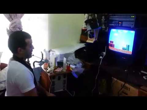Super Mario Bros con NES Hands Free Controller