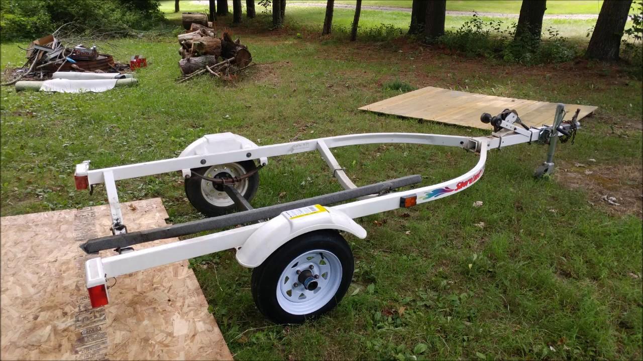 Replacing Bunks On 1996 Shoreland R Jet Ski Trailer Pwc1000 Youtube