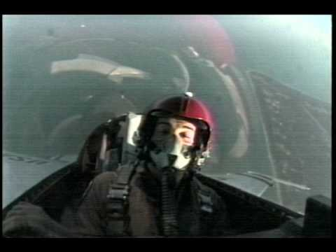 Reporter interviews F16 pilot in flight - Thunderbirds