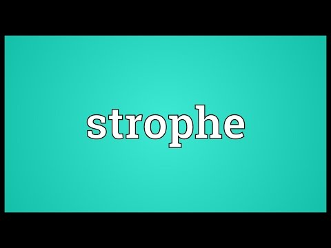 Strophe Meaning