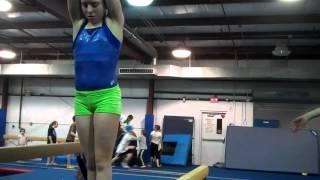 Kasey F Gymnastics Practices Handspring Layout Step Out