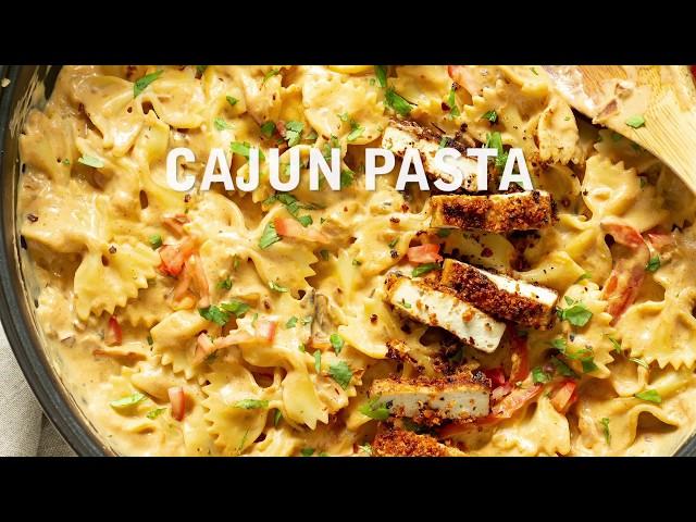 CAJUN PASTA WITH BREADED TOFU | Vegan Richa Recipes