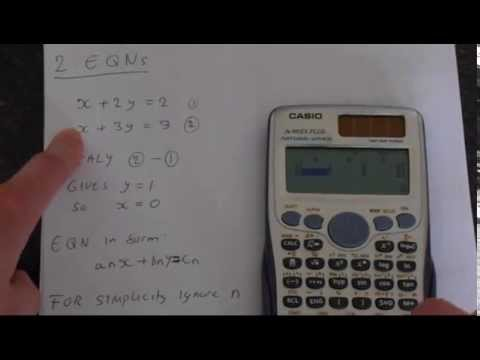 How To Solve Equations Using Casio Fx 991es Plus Youtube