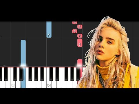Billie Eilish - Bellyache Piano Tutorial