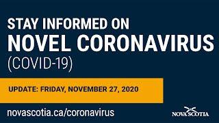 Update COVID-19 for Nova Scotians: Friday November 27
