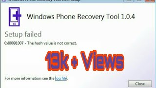 Nokia Lumia windows Device Recovery Tool Installaton without any Error 100%