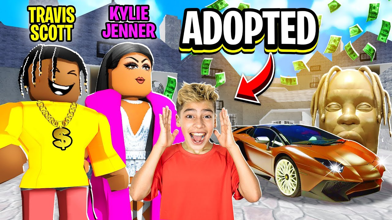 i Got ADOPTED by TRAVIS SCOTT & KYLIE JENNER!! 😱 | Royalty Gaming