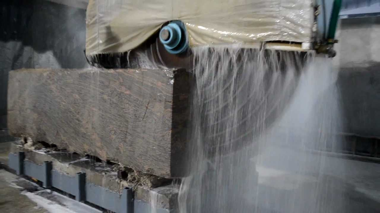 Granite Block Cutting Machine Metro B 12 Youtube