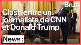 Échange violent entre Donald Trump et un journaliste de CNN