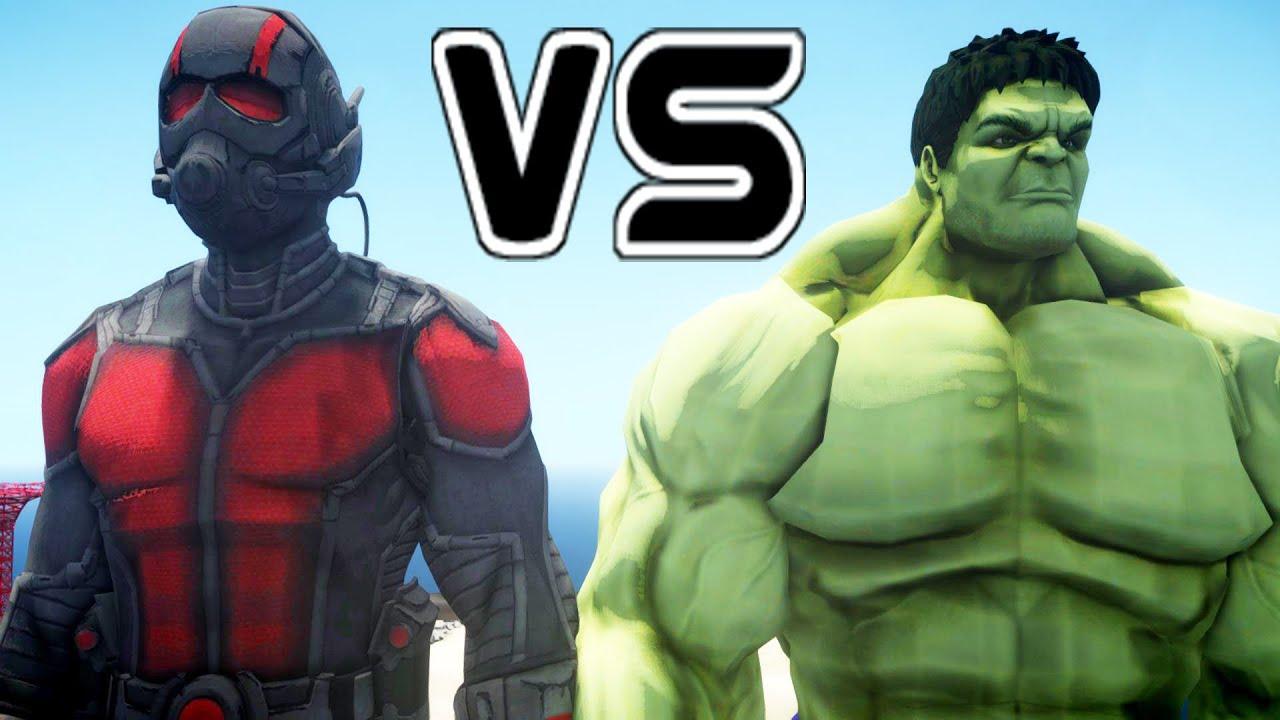 Antman Vs Hulk  Epic Battle Youtube