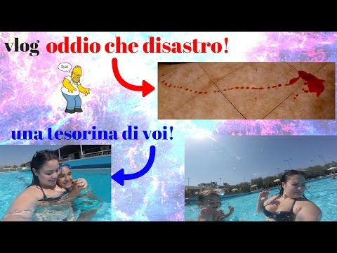 oh mio dio sangue !?!! vlog in piscina con disastro!!!