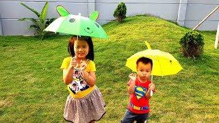Rain, rain, go away Nursery Rhyme With Lyrics, BaBiBum