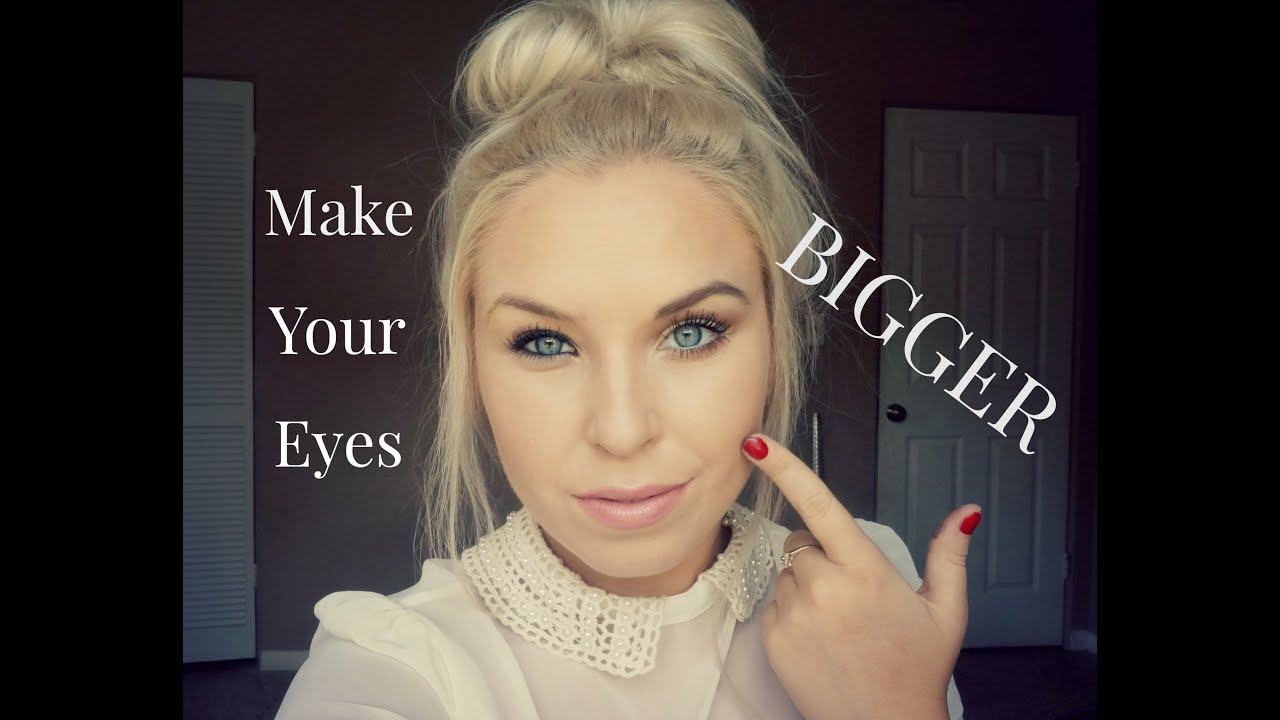 How to make your eyes look BIGGER!!!