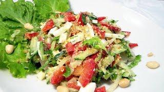Салат из сладкого перца с огурцами