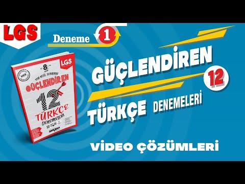 Ankara Yayıncılık LGS Yeni Nesil Güçlendiren TÜRKÇE 12 Deneme Çözümleri (Deneme-1)