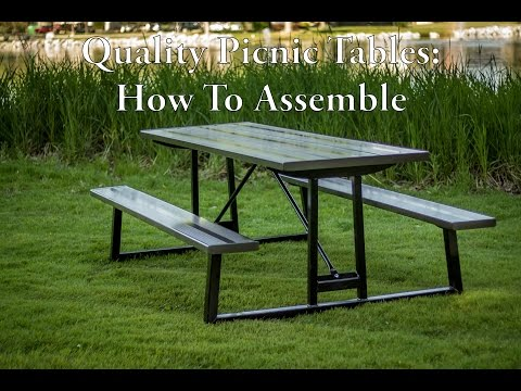 How To Assembly Your Quality Picnic Table