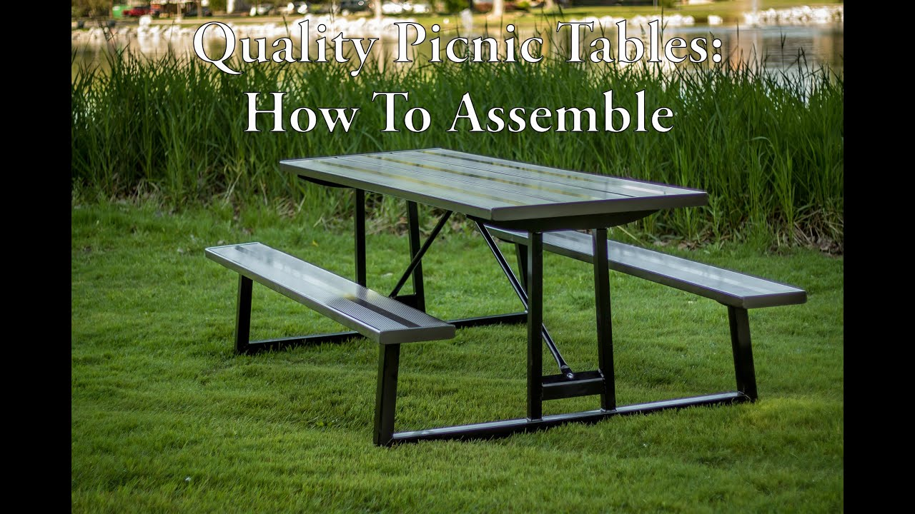 How To Assembly Your Quality Picnic Table YouTube - Tubular picnic table frame