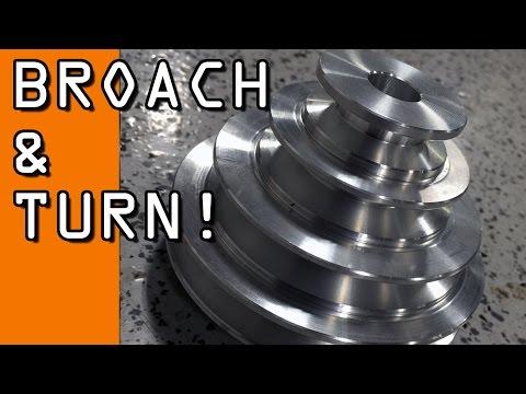 Job Shop Life!  Turn, Bore & Broach A DIY Pulley!   WW106