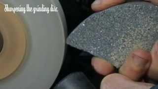 Maintaining, dressing  and using a white corundum grinding wheel, bench grinder